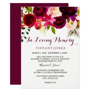 Serviço memorável floral do anúncio de Borgonha