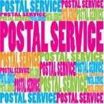 Serviço postal colorido esculturafoto