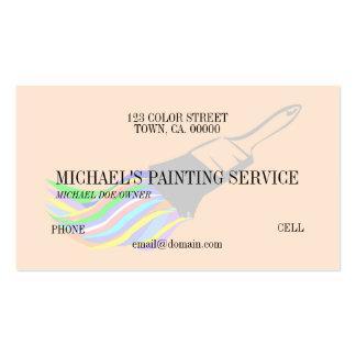 Serviço profissional da pintura cartoes de visitas