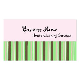 Serviços da limpeza da casa cartão de visita