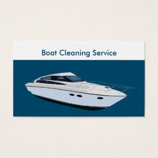 Serviços da limpeza do barco cartão de visitas