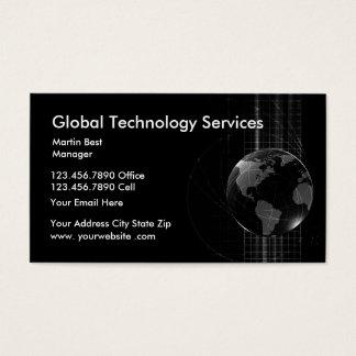 Serviços da tecnologia cartão de visitas