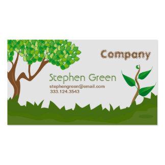 Serviços de jardinagem cartão de visita