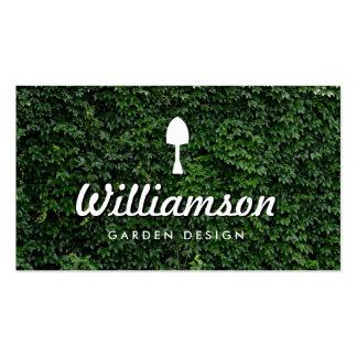 Serviços de jardinagem das folhas brancas do verde cartão de visita