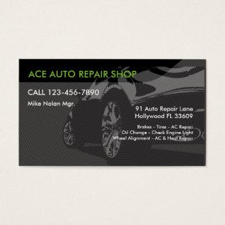 Serviços de reparação de automóveis cartão de visitas