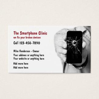 Serviços de reparações do telemóvel cartão de visitas