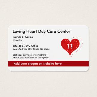 Serviços do centro e da família de centro de dia cartão de visitas