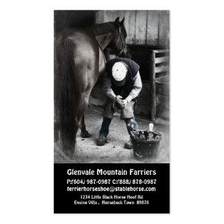 Serviços do Farrier do cavalo - guarnição e calçad Cartoes De Visita