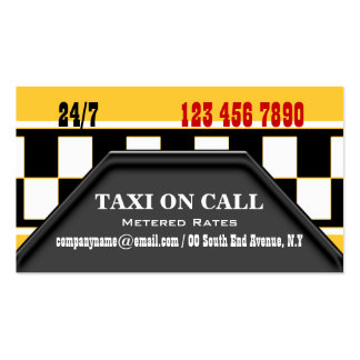 Serviços do motorista de táxi do táxi cartões de visita