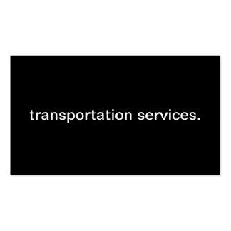 Serviços do transporte cartões de visitas