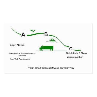 Serviços do transporte do cartão de visita