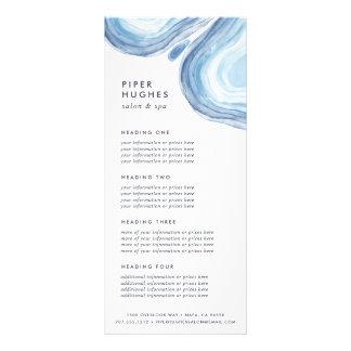 Serviços ou tabela de preços azul de Geode | da 10.16 X 22.86cm Panfleto