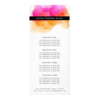Serviços ou tabela de preços moderna da aguarela | panfleto