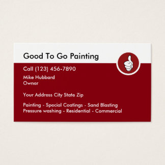 Serviços profissionais da pintura cartão de visitas