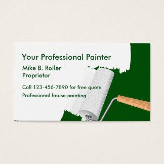 Serviços profissionais do pintor cartão de visitas