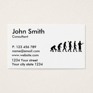 Servidor da evolução cartão de visitas