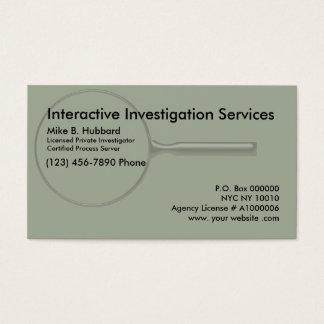 Servidor de processo do investigador privado cartão de visitas