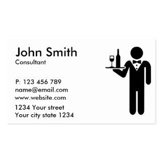 Servidor do garçom cartão de visita