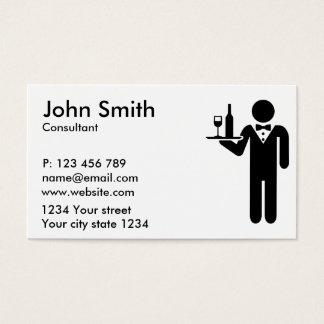 Servidor do garçom cartão de visitas
