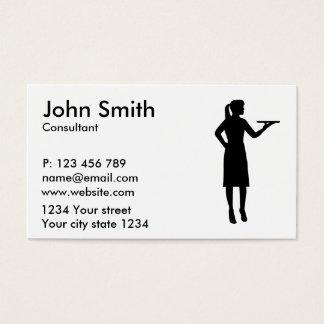 Servidor do garçonete cartão de visitas