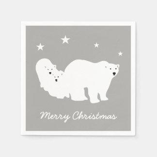 Serviettes dos guardanapo do urso polar do Feliz