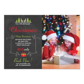 Sessão da fotografia do Natal mini Convite 12.7 X 17.78cm