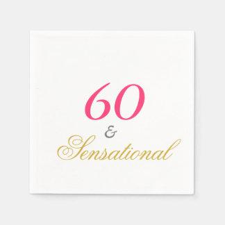 Sessenta e sensacional guardanapo de papel