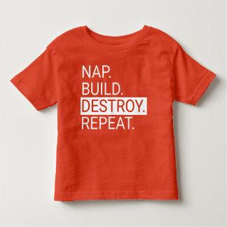 Sesta. Construção. Destrua. Repita. Camisa da