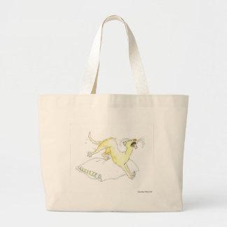 Sesta do gato bolsa para compras