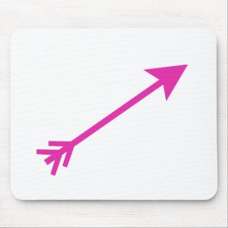 Seta 35deg cor-de-rosa os presentes de Zazzle do M Mousepads