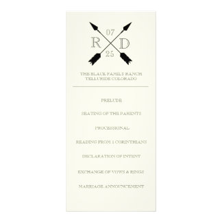 Seta cruzada rústica boémia | Rackcard Wedding 10.16 X 22.86cm Panfleto