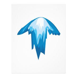 Seta do gelo acima panfleto personalizado