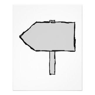 Seta do letreiro. Cinzas, preto e branco. Flyer 11.43 X 14.22cm