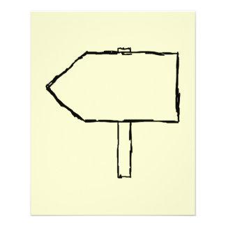 Seta do letreiro. Preto e creme Flyer 11.43 X 14.22cm