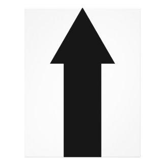 seta preta acima do ícone panfletos personalizados
