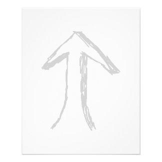 Seta que aponta acima Cinzas no branco Panfleto Coloridos