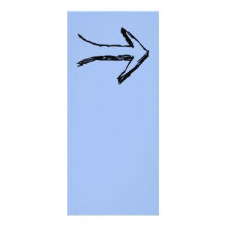 Seta que apontam certo, preto e azul 10.16 x 22.86cm panfleto