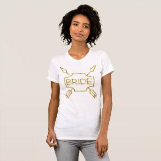 Setas das camisas da noiva do efeito da folha de