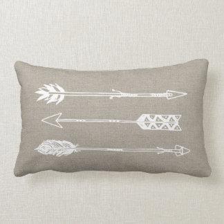 Setas rústicas de serapilheira travesseiros de decoração
