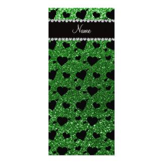 Setas verdes conhecidas feitas sob encomenda dos c 10.16 x 22.86cm panfleto