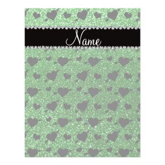 Setas verdes conhecidas feitas sob encomenda dos c panfleto personalizado