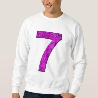 Sete camisa vibracional afortunada do número 7 das