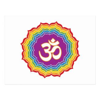 Sete cores de Chakras Cartão Postal