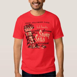 Sete mares (parte dianteira e parte traseira) t-shirts