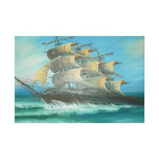 Sete mares ventosos impressão em tela