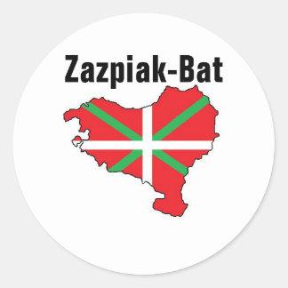 Sete províncias uma etiqueta Basque do país
