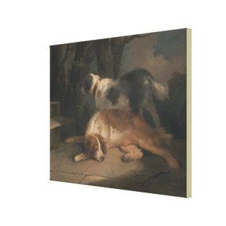 Setter por George Morland Impressão Em Canvas