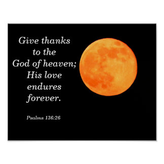 Seu amor resiste -- Arte do poster dos salmos Pôster