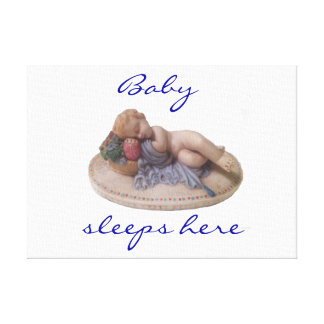 Seu bebê dorme aqui canvas impressão em tela canvas