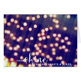 Seu brilho cartão comemorativo